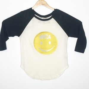 RVCA | Smiley Face Raglan Tee XS